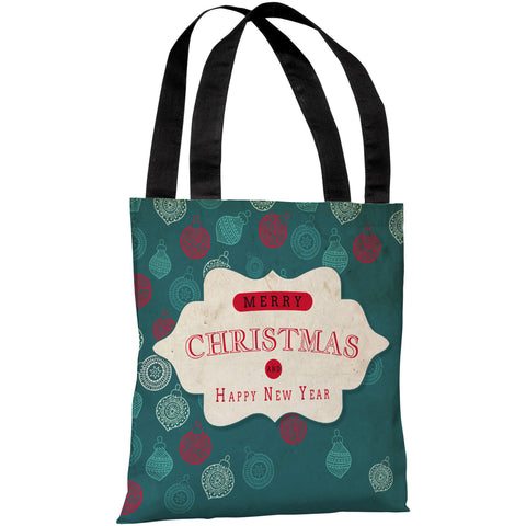 """Assorted Ornaments"" 18""x18"" Tote Bag by OneBellaCasa"