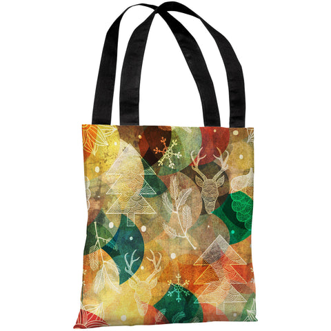 """Tis The Season"" 18""x18"" Tote Bag by OneBellaCasa"