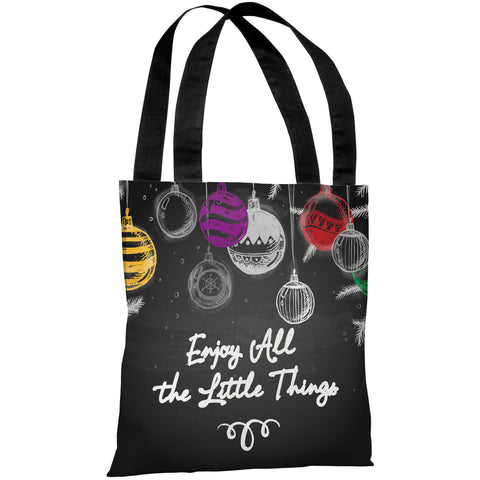 """Enjoy All The Little Things"" 18""x18"" Tote Bag by OneBellaCasa"