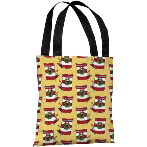 """Beach Christmas Chair Pattern"" 18""x18"" Tote Bag by Timree Gold"