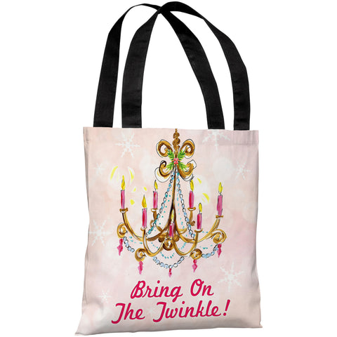 """Bring On The Twinkle!"" 18""x18"" Tote Bag by Timree Gold"