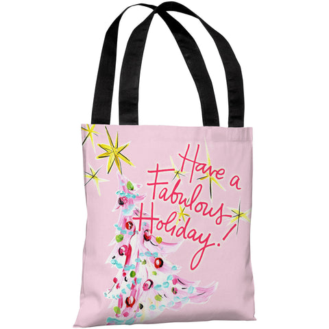 """Have A Fabulous Holiday!"" 18""x18"" Tote Bag by Timree Gold"