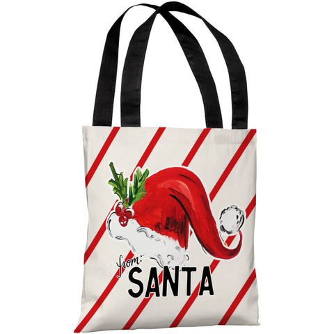 """From Santa Hat"" 18""x18"" Tote Bag by Timree Gold"