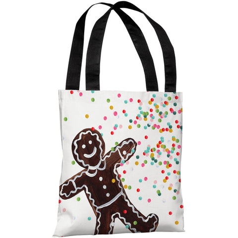 """Gingerbread Sprinkles"" 18""x18"" Tote Bag by Timree Gold"