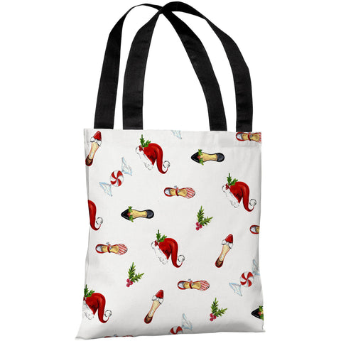 """Holiday Spirit Pattern"" 18""x18"" Tote Bag by Timree Gold"