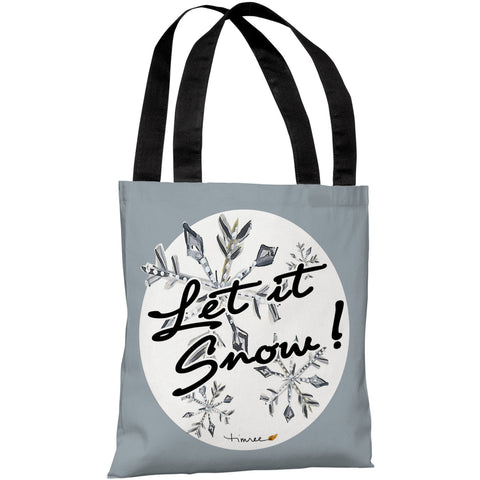 """Let It Snow!"" 18""x18"" Tote Bag by Timree Gold"