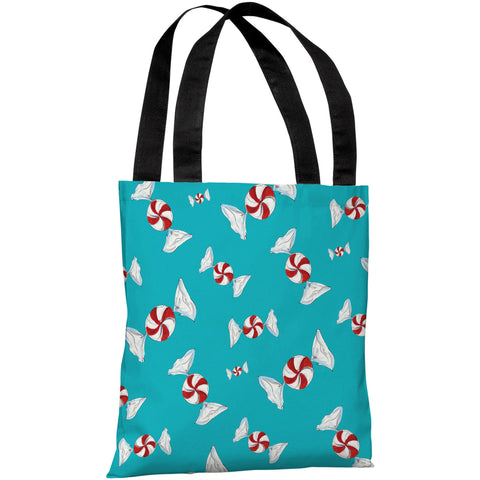 """Peppermint Pattern"" 18""x18"" Tote Bag by Timree Gold"