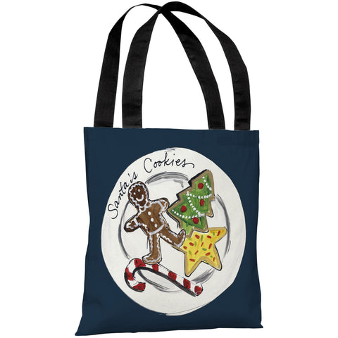 """Santa's Cookies"" 18""x18"" Tote Bag by Timree Gold"