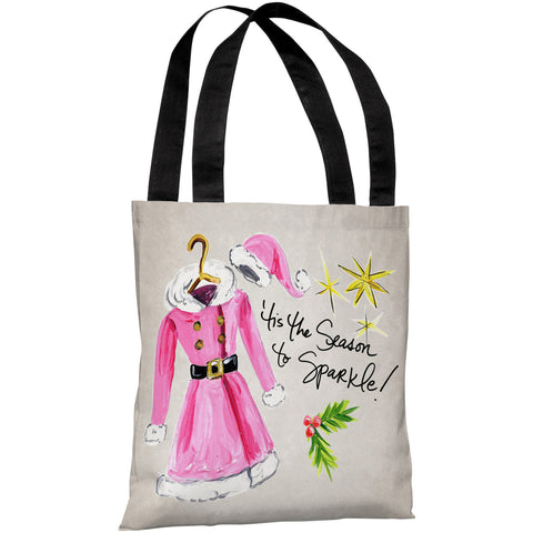 """Tis The Season To Sparkle"" 18""x18"" Tote Bag by Timree Gold"