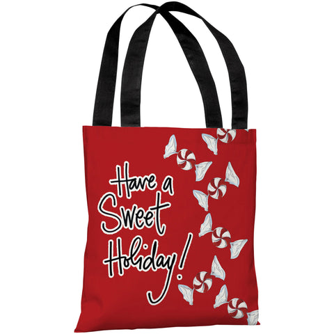 """Have A Sweet Holiday!"" 18""x18"" Tote Bag by Timree Gold"
