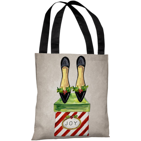 """Glitzmas Shoes"" 18""x18"" Tote Bag by Timree Gold"