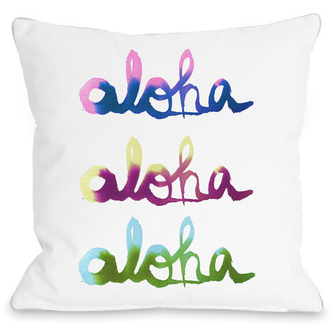 """Aloha"" Indoor Throw Pillow by Judit Garcia Talvera, 16""x16"""