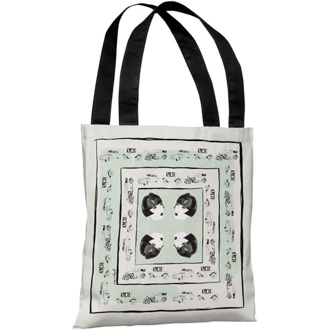 """Car Heads"" 18""x18"" Tote Bag by Judit Garcia Talvera"