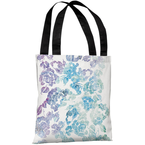 """Flower Print"" 18""x18"" Tote Bag by Judit Garcia Talvera"