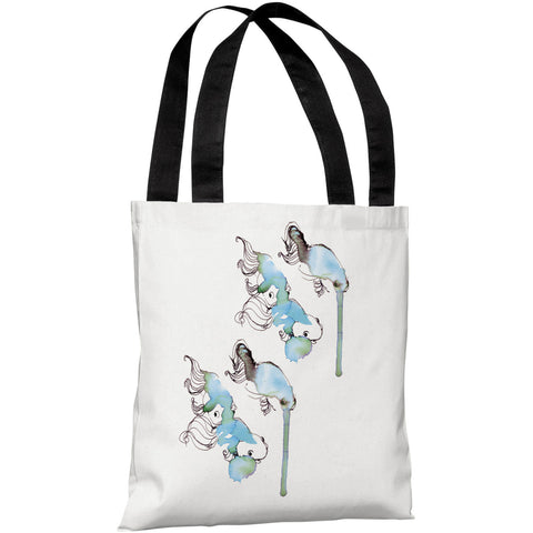 """Goldfish"" 18""x18"" Tote Bag by Judit Garcia Talvera"