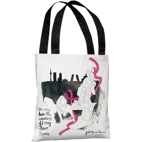 """Madrid"" 18""x18"" Tote Bag by Judit Garcia Talvera"