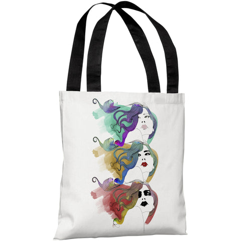 """Mermaid Hair"" 18""x18"" Tote Bag by Judit Garcia Talvera"