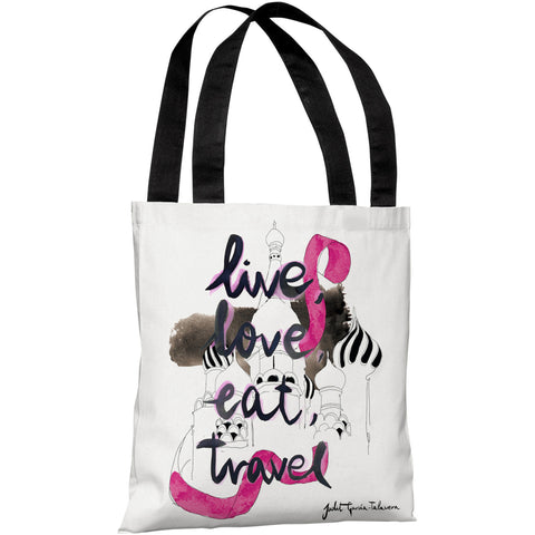 """Moscow"" 18""x18"" Tote Bag by Judit Garcia Talvera"