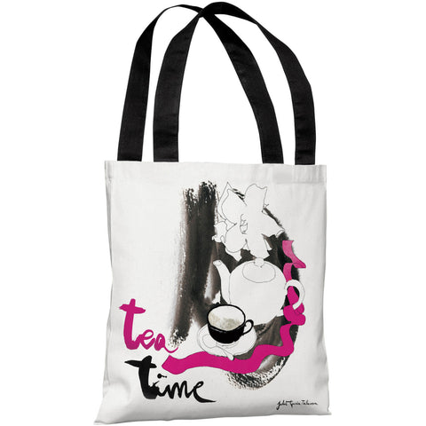 """Tea Time"" 18""x18"" Tote Bag by Judit Garcia Talvera"