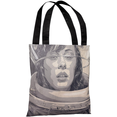 """Girl in Spacesuit"" 18""x18"" Tote Bag by Matthew Woodson"