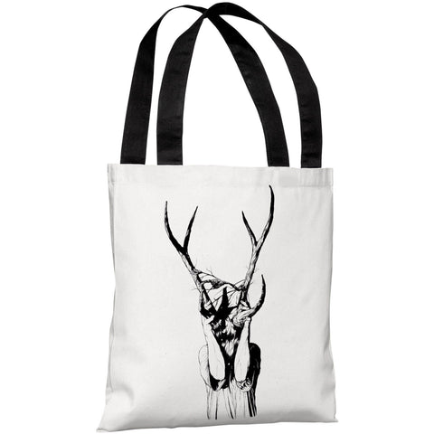 """Girl with Antlers"" 18""x18"" Tote Bag by Matthew Woodson"