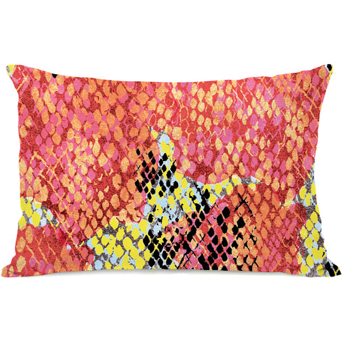 """Reptilian Light"" Outdoor Throw Pillow by Jeanetta Gonzales, 14""x20"""