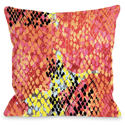 """Reptilian Light"" Outdoor Throw Pillow by Jeanetta Gonzales, 16""x16"""