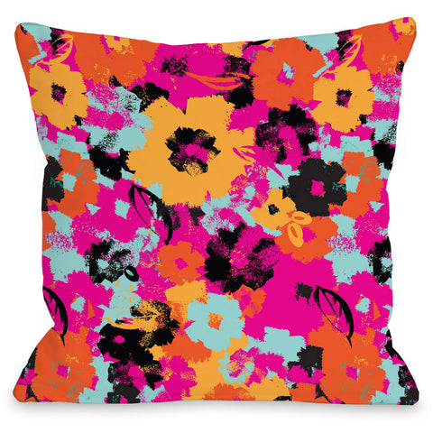 """Summer's Day"" Outdoor Throw Pillow by Jeanetta Gonzales, 16""x16"""