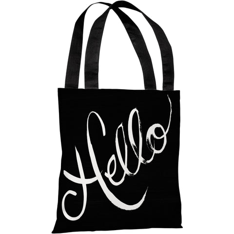 """Hello"" 18""x18"" Tote Bag by Timree Gold"