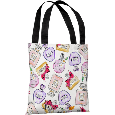 """Pretty Girl Perfume"" 18""x18"" Tote Bag by Timree Gold"