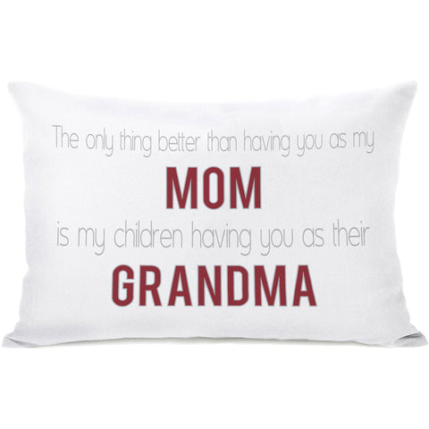 """Mom & Grandma"" Indoor Throw Pillow by OneBellaCasa, Pink, 14""x20"""