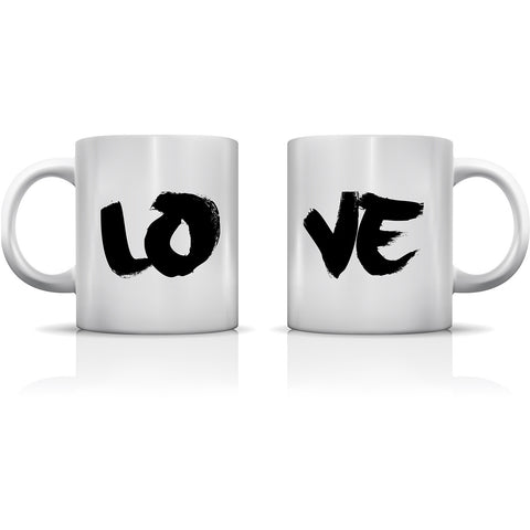 """Love Painted"" Set of Mugs by OneBellaCasa"
