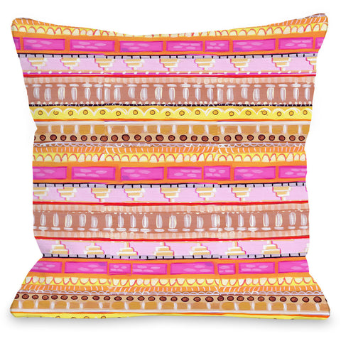 """Love From NYC Pattern"" Outdoor Throw Pillow by April Heather Art, 16""x16"""