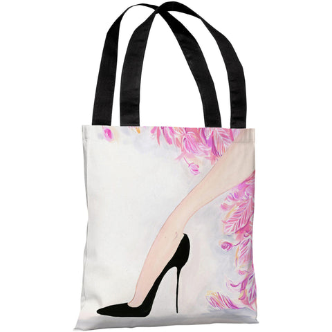 """Stilettos Feathers"" 18""x18"" Tote Bag by April Heather Art"