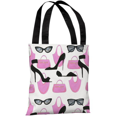 """Style"" 18""x18"" Tote Bag by April Heather Art"