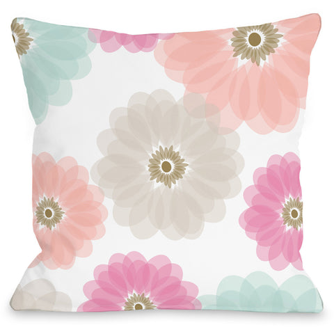 """Spring Jardin"" Indoor Throw Pillow by Andrea Victoria, 16""x16"""