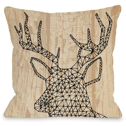 """Geo Deer"" Outdoor Throw Pillow by Arrolynn Weiderhold, 16""x16"""