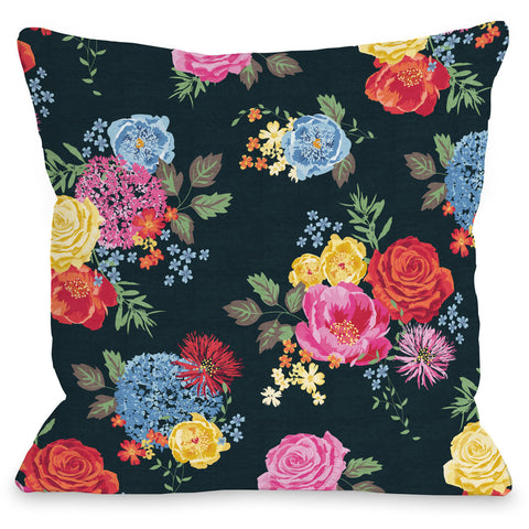 """Botanica"" Outdoor Throw Pillow by Jennifer Ellory, 16""x16"""