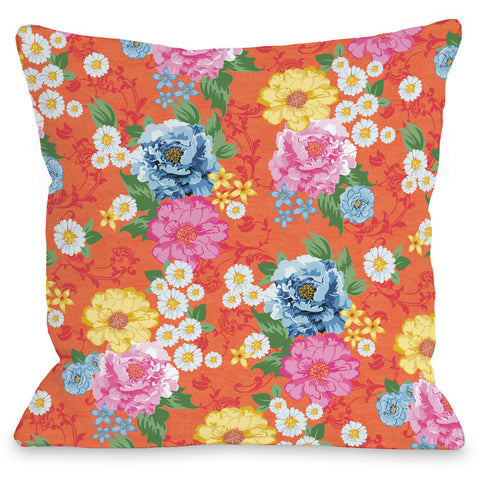 """Botanica"" Indoor Throw Pillow by Jennifer Ellory, 16""x16"""