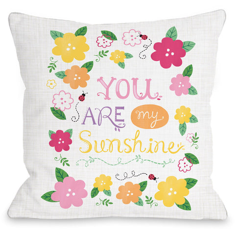 """You Are My Sunshine"" Outdoor Throw Pillow by Julissa Mora, 16""x16"""