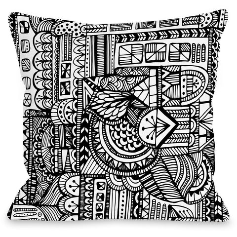 """Laurel"" Outdoor Throw Pillow by Joy Ting, 16""x16"""