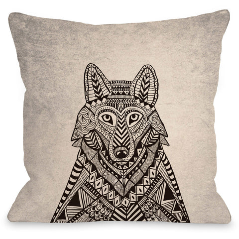 """Fox Woods"" Outdoor Throw Pillow by Joy Ting, 16""x16"""