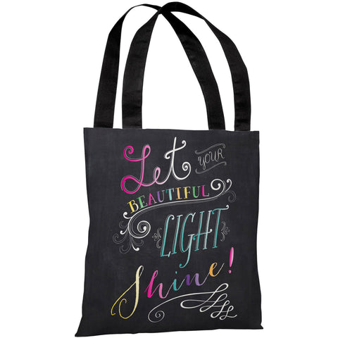 """Let Your Beautiful Light Shine!"" 18""x18"" Tote Bag by Mary Beth"