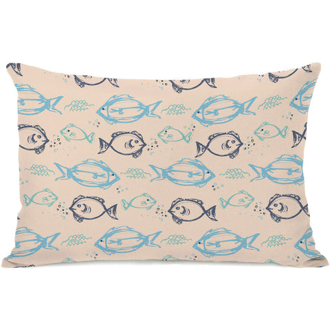 """Gone Fishin"" Outdoor Throw Pillow by Jeanetta Gonzales, 14""x20"""