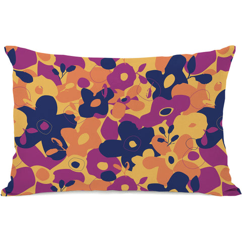 """Purple Reign Floral"" Outdoor Throw Pillow by Jeanetta Gonzales, 14""x20"""