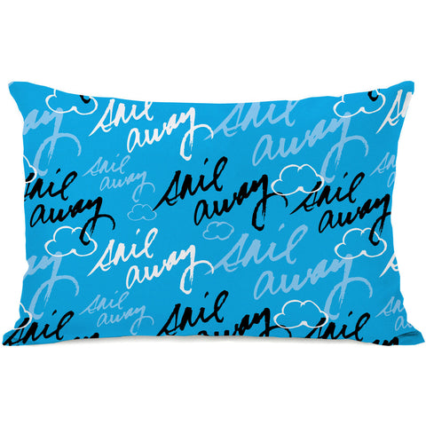 """Sail Away"" Outdoor Throw Pillow by Jeanetta Gonzales, 14""x20"""