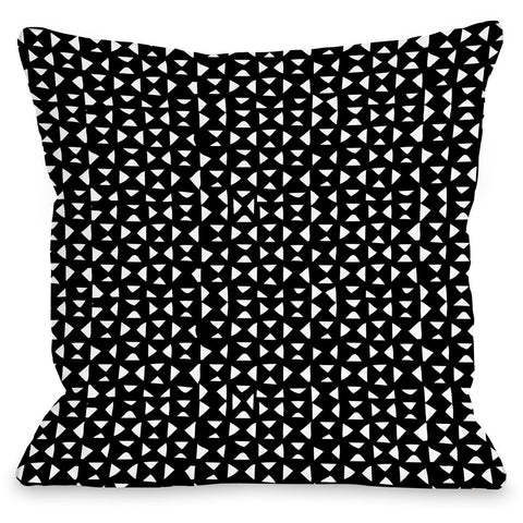 """Tiny Triangles"" Outdoor Throw Pillow by Jeanetta Gonzales, 16""x16"""