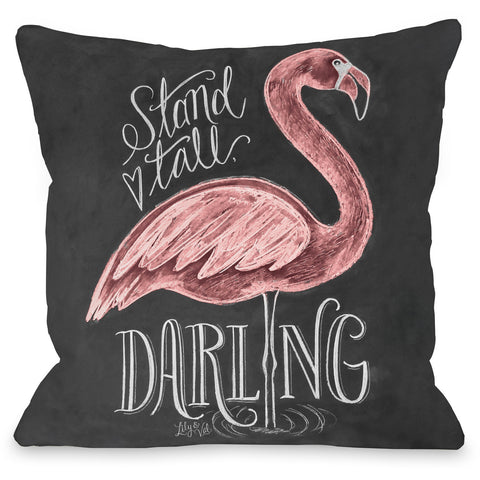 """Stand Tall Darling"" Outdoor Throw Pillow by Lily & Val, 16""x16"""
