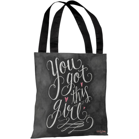 """You Got This Girl"" 18""x18"" Tote Bag by Lily & Val"