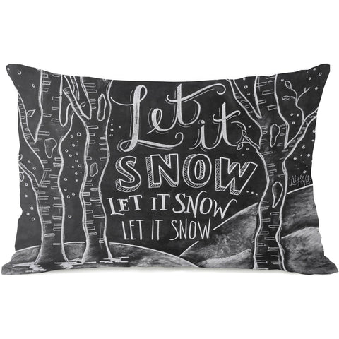 """Let It Snow"" Indoor Throw Pillow by Lily & Val, 14""x20"""